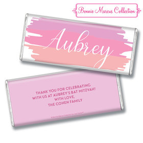 Bat Mitzvah Personalized Pink Watermark Chocolate Bar