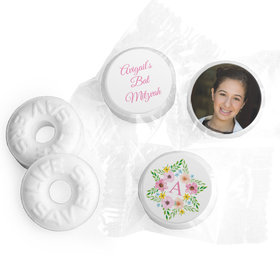Personalized Bonnie Marcus Bat Mitzvah Floral Star of David Life Savers Mints