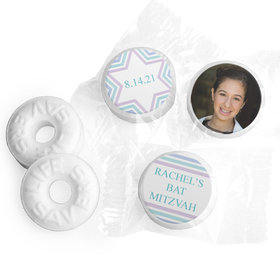 Personalized Bonnie Marcus Bat Mitzvah Traditional Stripes Life Savers Mints