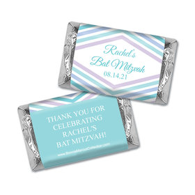 Personalized Bonnie Marcus Bat Mitzvah Traditional Stripes Hershey's Miniatures