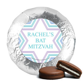 Personalized Bonnie Marcus Bat Mitzvah Traditional Stripes Chocolate Covered Oreos Cookies
