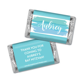 Personalized Bonnie Marcus Bat Mitzvah Watercolor Blessing Hershey's Miniatures