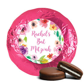 Personalized Bonnie Marcus Bat Mitzvah Floral Commencement Chocolate Covered Oreos Cookies (24 Pack)