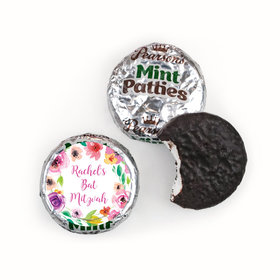 Personalized Bonnie Marcus Bat Mitzvah Floral Commencement Pearson's Mint Patties