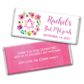 Personalized Bonnie Marcus Bat Mitzvah Floral Commencement Chocolate Bar