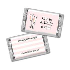 Bonnie Marcus Collection Engagement Pink Champagne Personalized Mini Candy Bar Wrapper