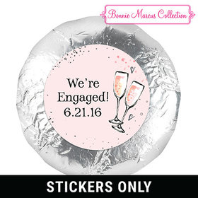 Pink Champagne Engagement Favors Belgian Chocolate Drenched Oreo