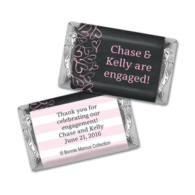 Sweetheart Swirl Personalized Miniature Wrappers