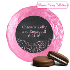 Sweetheart Swirl Engagement Favors Belgian Chocolate Covered Oreo Assembled (24 Pack)