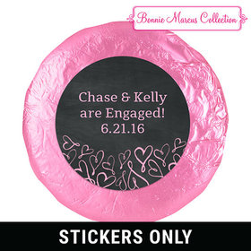 Sweetheart Swirl Engagement Favors 1.25in Stickers