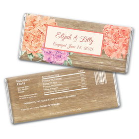 Blooming Joy Engagement Announcement Personalized Candy Bar - Wrapper Only