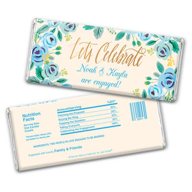 Bonnie Marcus Collection Personalized Chocolate Bar Chocolate & Wrapper Here's Something Blue Engagement Favors