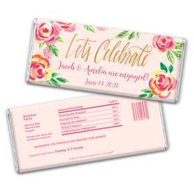 In the Pink Engagement Favors by Bonnie Marcus Personalized Candy Bar - Wrapper Only