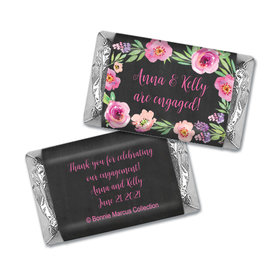 Floral Embrace Engagement Personalized Miniature Wrappers