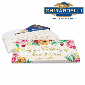 Deluxe Personalized Stripes Engagement Ghirardelli Chocolate Bar in Gift Box