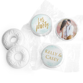 Personalized Bonnie Marcus Engagement Champagne Party Life Savers Mints