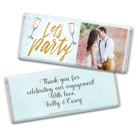 Personalized Bonnie Marcus Chocolate Bar & Wrapper - Engagement Champagne Party