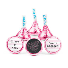 Personalized Bonnie Marcus Engagement Sweetheart Swirl Hershey's Kisses (50 pack)