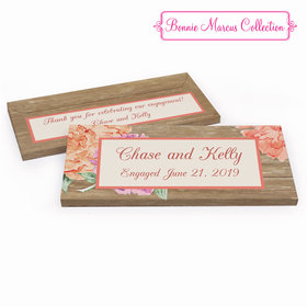 Deluxe Personalized Blooming Joy Engagement Chocolate Bar in Gift Box