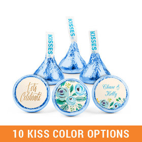 Personalized Bonnie Marcus Engagement Something Blue Hershey's Kisses (50 pack)