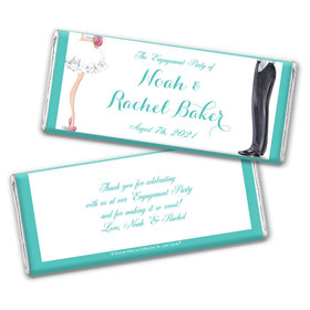 Personalized Bonnie Marcus Engagement Chic Wedding Couple Chocolate Bar & Wrapper