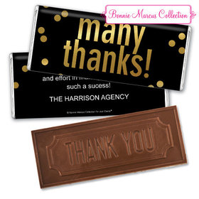 Personalized Bonnie Marcus Many Thanks Business Embossed Chocolate Bar