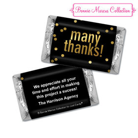 Personalized Bonnie Marcus Many Thanks Business Hershey's Miniatures