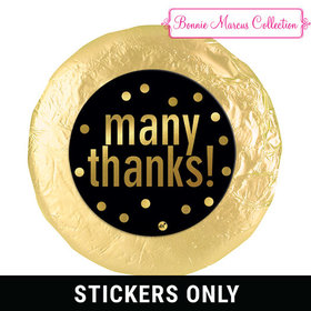 "Personalized Bonnie Marcus Many Thanks Business 1.25"" Stickers (48 Stickers)"