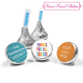 Personalized Bonnie Marcus Stripes Business Thank you Hershey's Kisses (50 Pack)