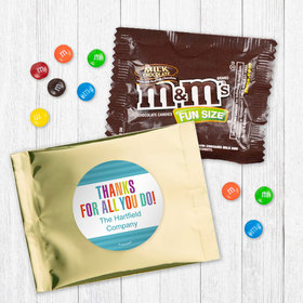 Personalized Business Thank You Stripes - Milk Chocolate M&Ms