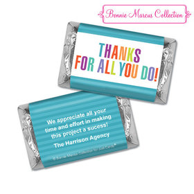 Personalized Bonnie Marcus Stripes Business Thank you Hershey's Miniatures
