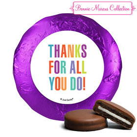Personalized Bonnie Marcus Stripes Business Thank you Chocolate Covered Oreos (24 Pack)