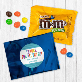 Personalized Business Thank You Stripes - Peanut M&Ms