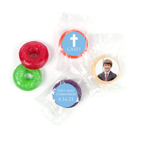 Personalized Life Savers 5 Flavor Hard Candy - Boy First Communion Religious Symbols