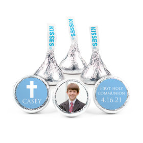 "Personalized Boy First Communion Religious Symbols 3/4"" Stickers (108 Stickers)"