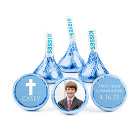 Personalized Bonnie Marcus Boy First Communion Religious Symbols Hershey's Kisses (50 pack)