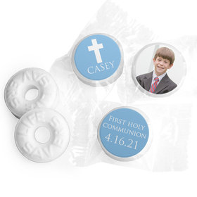 Personalized Life Savers Mints - Boy First Communion Religious Symbols