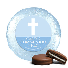 Personalized Boy First Communion Religious Symbols Chocolate Covered Oreos (24 Pack)