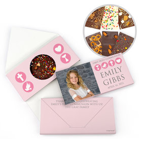 Personalized Bonnie Marcus Girl Communion Religious Symbols Gourmet Infused Belgian Chocolate Bars (3.5oz)