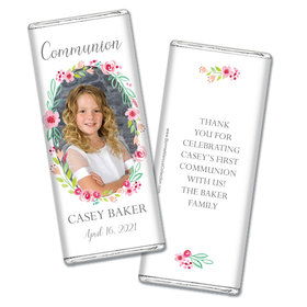 Personalized Bonnie Marcus Girl First Communion Floral Elegance Chocolate Bars