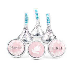 Personalized Bonnie Marcus Girl 1st Communion Darling Roses Hershey's Kisses (50 pack)