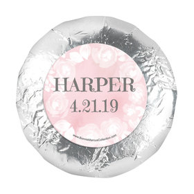 "Personalized 1.25"" Stickers - Girl First Communion Darling Roses (48 Stickers)"