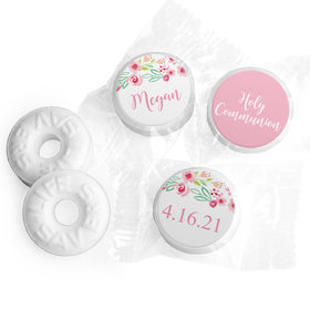 Personalized Life Savers Mints - Girl First Communion Fancy Florets