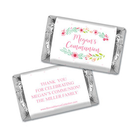 Personalized Bonnie Marcus Girl First Communion Fancy Florets Mini Wrappers Only