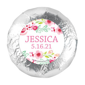 "Personalized 1.25"" Stickers - Girl First Communion Floral Arrangement (48 Stickers)"