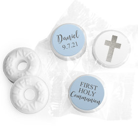 Personalized Life Savers Mints - Boy First Communion Shimmering Cross