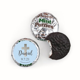 Personalized Pearson's Mint Patties - Boy First Communion Shimmering Cross