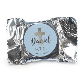 Personalized York Peppermint Patties - Boy First Communion Shimmering Cross