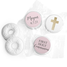 Personalized Life Savers Mints - Girl First Communion Shimmering Cross
