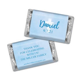 Personalized Bonnie Marcus Boy First Communion Faded Cross Mini Wrappers Only